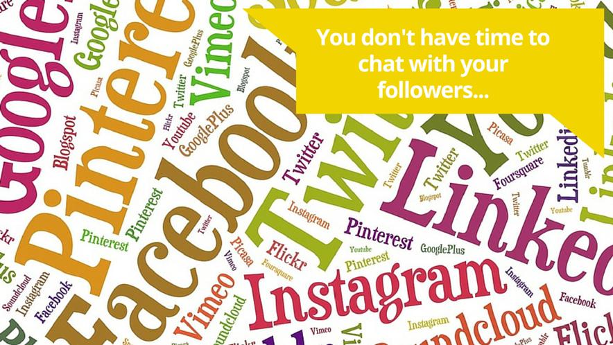 Social media corner tab