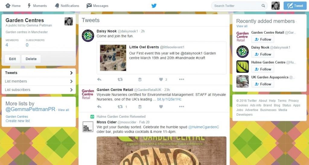 Twitter lists - Using